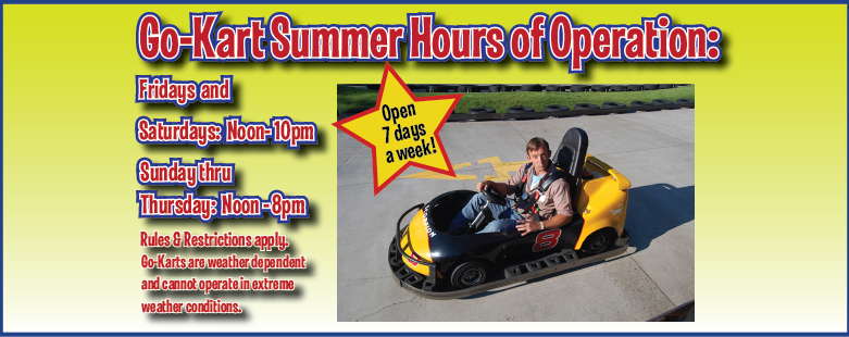 SlideShow-Size-Go-Kart-Summer-Hours