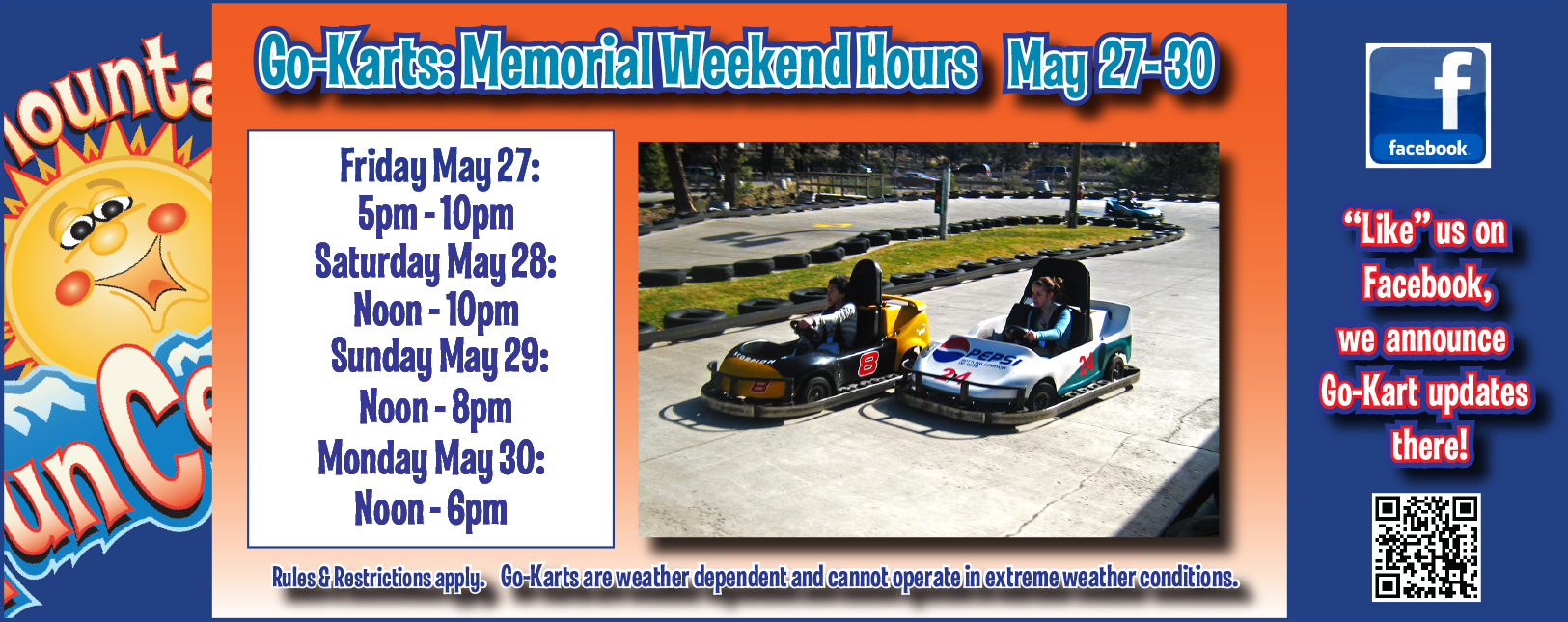 Memorial Day Go Kart Hours