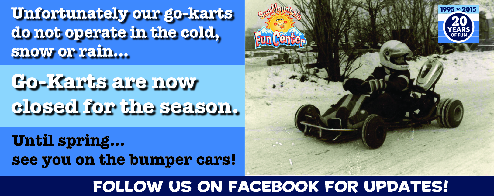 Go Karts Closed for Winter